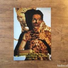Cine: PÓSTER FESTIVAL DE SITGES DE TERROR - 1986. Lote 208345701