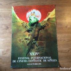 Cine: PÓSTER FESTIVAL DE SITGES DE TERROR 1991. Lote 208356021