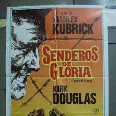 Cine: CDO 3125 SENDEROS DE GLORIA STANLEY KUBRICK KIRK DOUGLAS POSTER ORIGINAL 70X100 ESTRENO. Lote 208369345