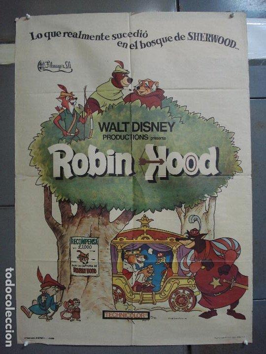 CDO 3130 ROBIN HOOD WALT DISNEY POSTER ORIGINAL 70X100 ESTRENO (Cine - Posters y Carteles - Infantil)