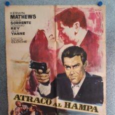 Cine: ATRACO AL HAMPA. KERWIN MATHEWS, JEAN YANNE, FERNANDO REY. AÑO 1967. POSTER ORIGINAL. Lote 208385895