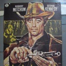 Cinema: CDO 3147 UN HOMBRE IMPONE LA LEY ROBERT MITCHUM GEORGE KENNEDY MAC POSTER ORIGINAL 70X100 ESTRENO. Lote 208387186