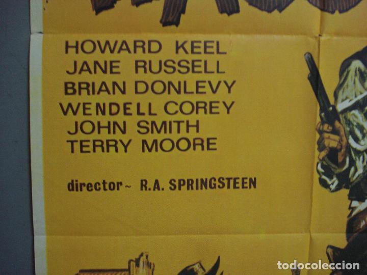 Cine: CDO 3161 WACO HOWARD KEEL JANE RUSSELL LEAF POSTER ORIGINAL ESTRENO 70X100 - Foto 3 - 208391370