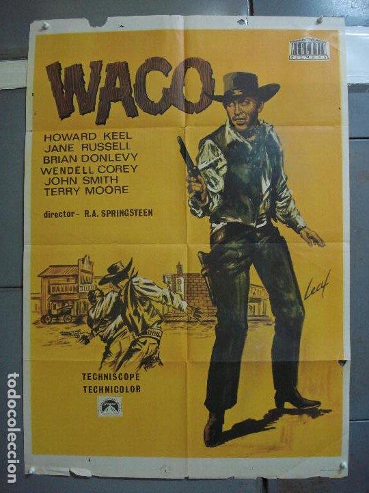 CDO 3161 WACO HOWARD KEEL JANE RUSSELL LEAF POSTER ORIGINAL ESTRENO 70X100 (Cine - Posters y Carteles - Westerns)