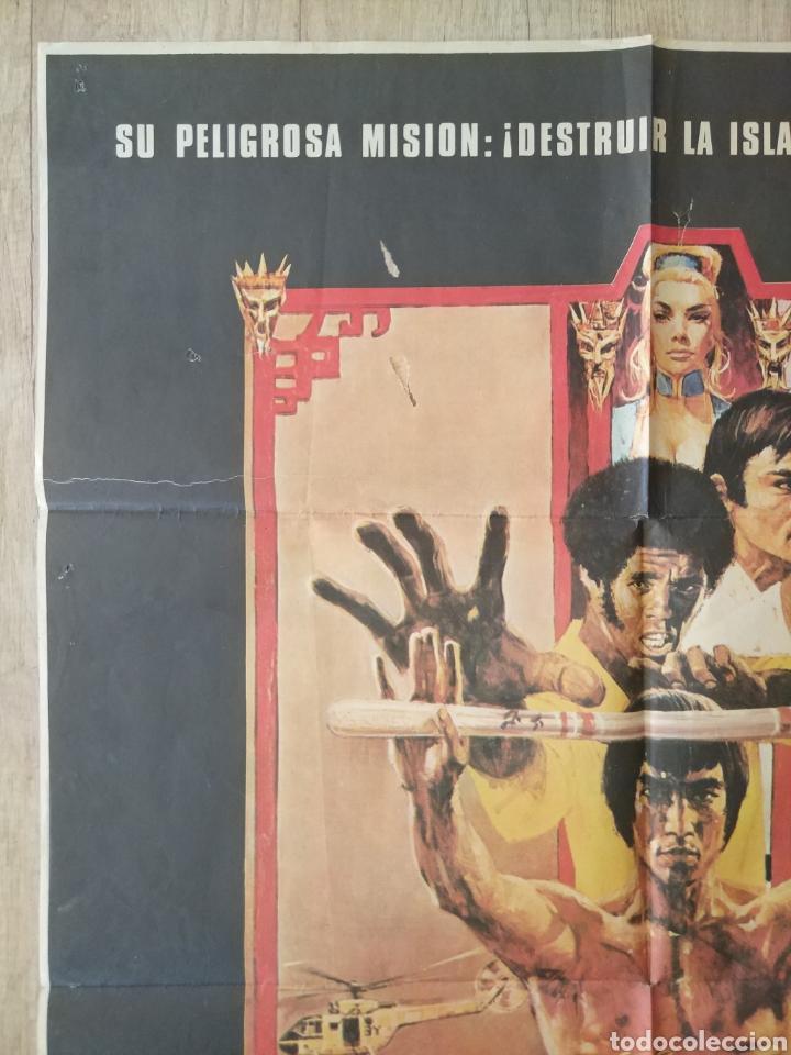 Cine: Cartel Estreno cines en España película OPERACION DRAGON (BRUCE LEE) Año: 1973 - Foto 4 - 208395121
