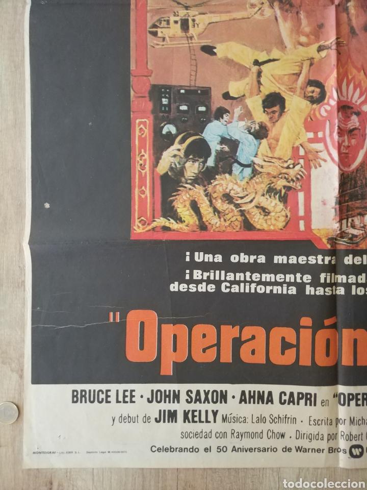 Cine: Cartel Estreno cines en España película OPERACION DRAGON (BRUCE LEE) Año: 1973 - Foto 6 - 208395121