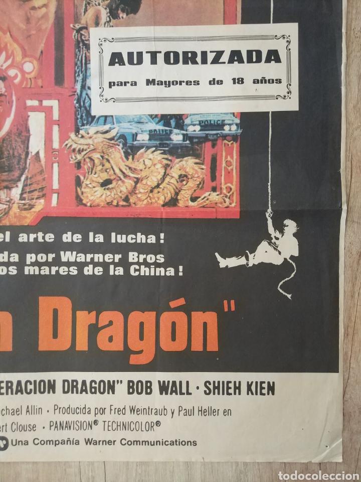 Cine: Cartel Estreno cines en España película OPERACION DRAGON (BRUCE LEE) Año: 1973 - Foto 7 - 208395121