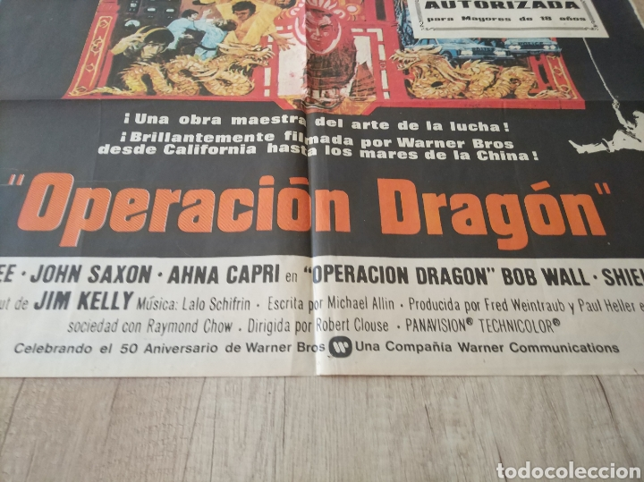 Cine: Cartel Estreno cines en España película OPERACION DRAGON (BRUCE LEE) Año: 1973 - Foto 9 - 208395121
