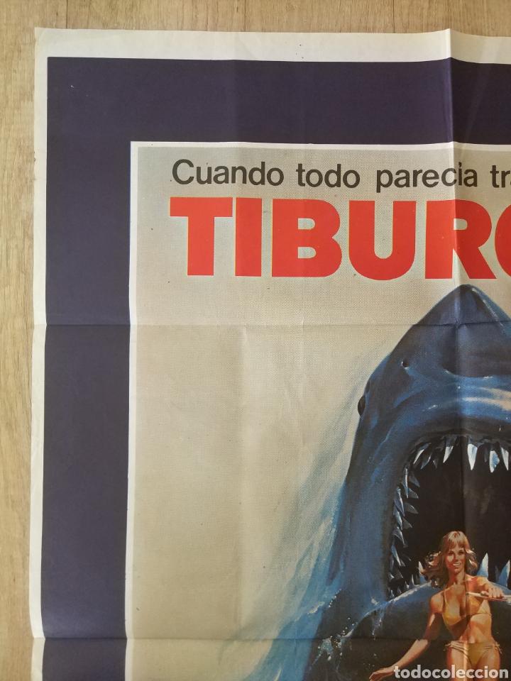 Cine: Cartel Estreno cines en España película TIBURÓN 2 (JAWS). Año 1978 - Foto 4 - 208401946