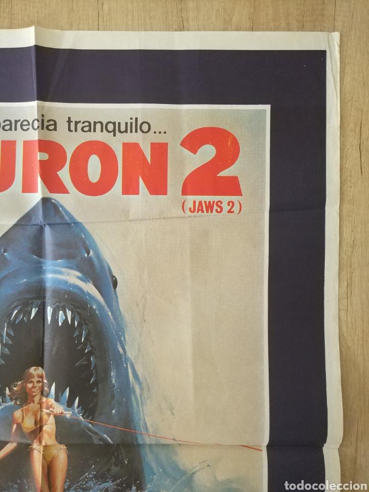 Cine: Cartel Estreno cines en España película TIBURÓN 2 (JAWS). Año 1978 - Foto 5 - 208401946