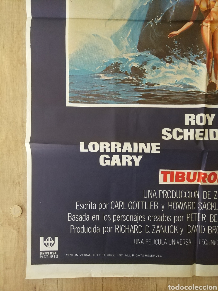 Cine: Cartel Estreno cines en España película TIBURÓN 2 (JAWS). Año 1978 - Foto 6 - 208401946