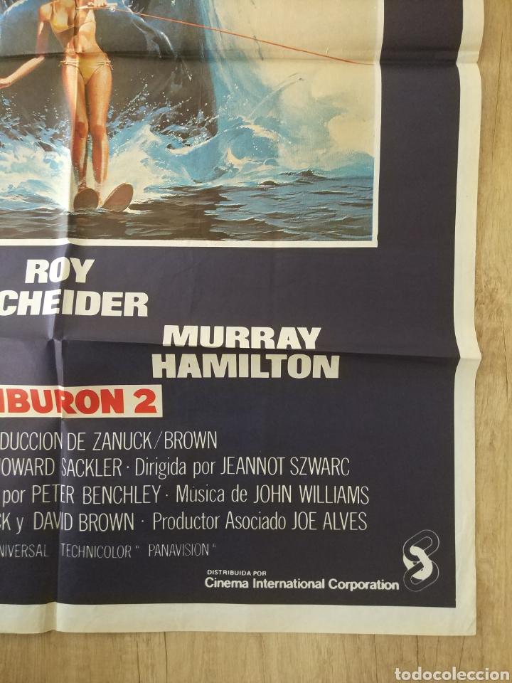 Cine: Cartel Estreno cines en España película TIBURÓN 2 (JAWS). Año 1978 - Foto 7 - 208401946