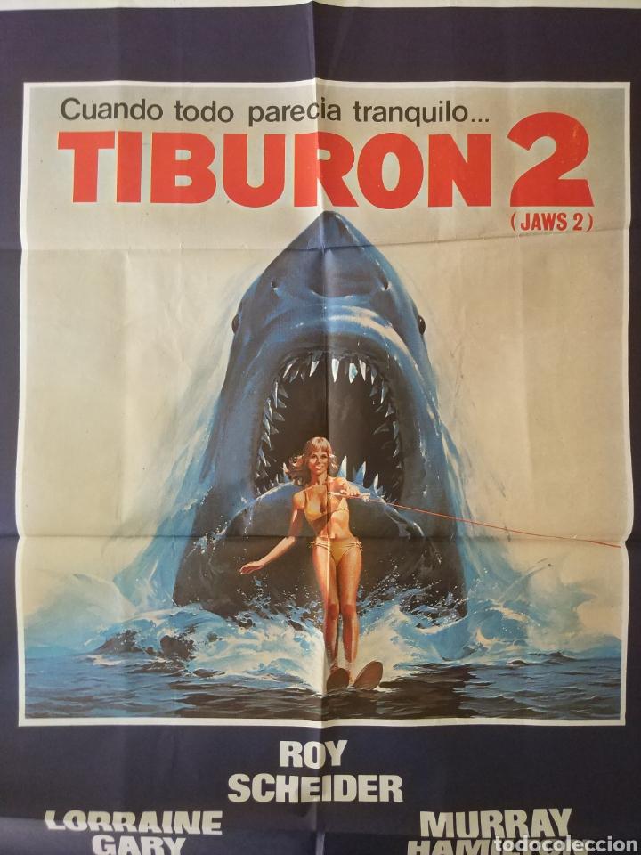 Cine: Cartel Estreno cines en España película TIBURÓN 2 (JAWS). Año 1978 - Foto 8 - 208401946