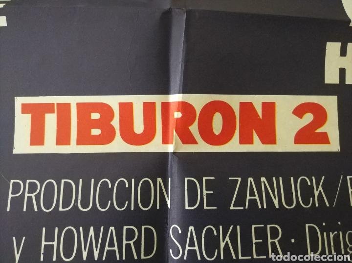 Cine: Cartel Estreno cines en España película TIBURÓN 2 (JAWS). Año 1978 - Foto 9 - 208401946