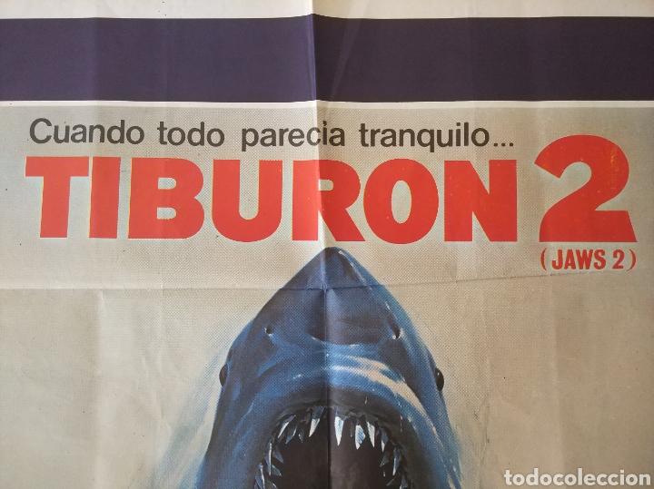 Cine: Cartel Estreno cines en España película TIBURÓN 2 (JAWS). Año 1978 - Foto 10 - 208401946