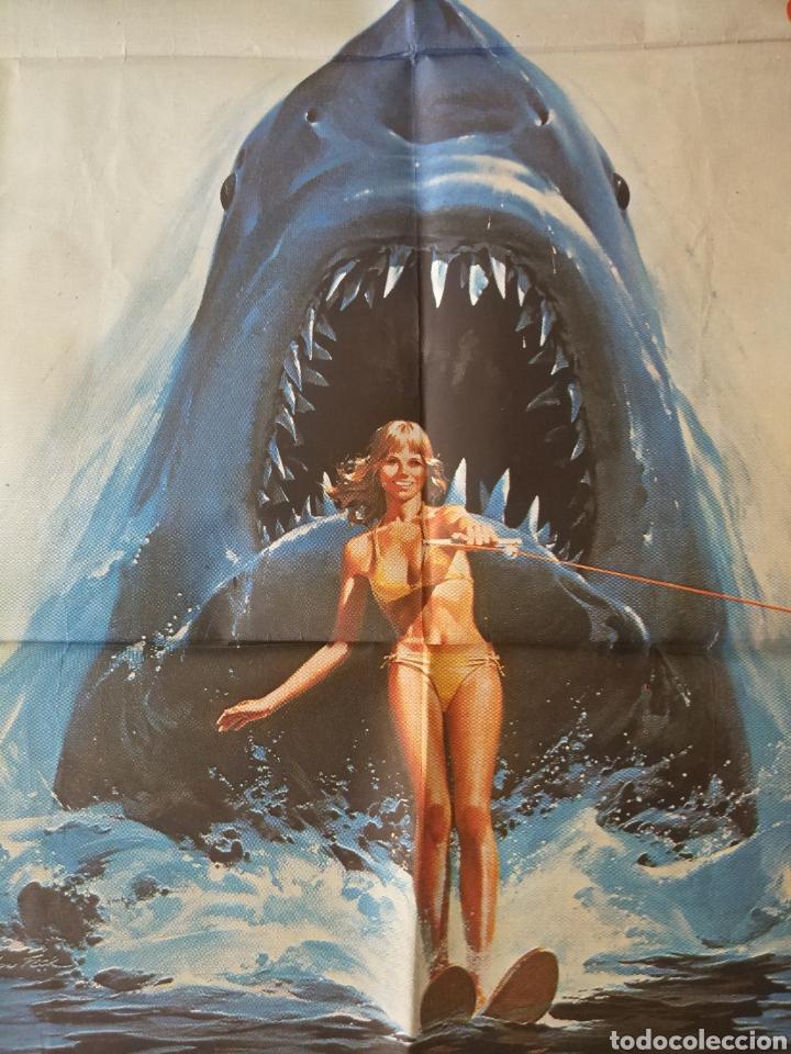 Cine: Cartel Estreno cines en España película TIBURÓN 2 (JAWS). Año 1978 - Foto 11 - 208401946