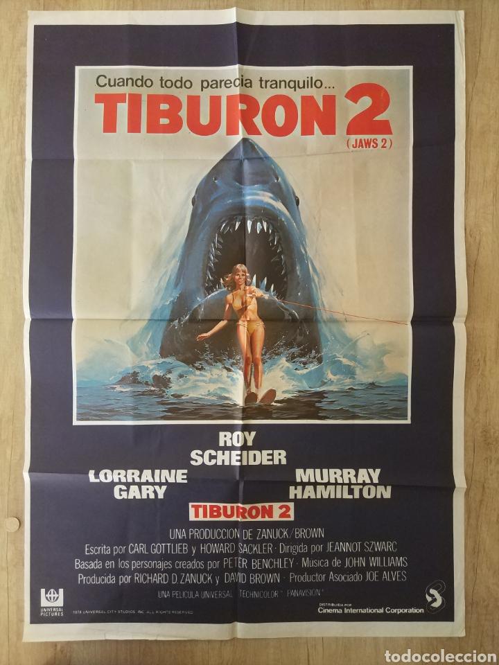 CARTEL ESTRENO CINES EN ESPAÑA PELÍCULA TIBURÓN 2 (JAWS). AÑO 1978 (Cine - Posters y Carteles - Acción)