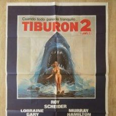 Cine: CARTEL ESTRENO CINES EN ESPAÑA PELÍCULA TIBURÓN 2 (JAWS). AÑO 1978. Lote 208401946