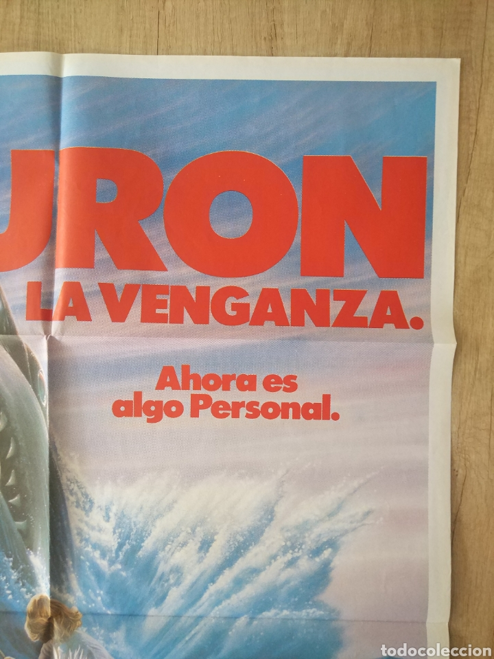 Cine: Cartel Estreno cines en España película TIBURÓN LA VENGANZA (Jaws: The Revenge) Año: 1987 - Foto 4 - 208403963