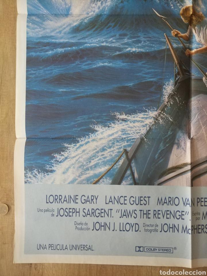 Cine: Cartel Estreno cines en España película TIBURÓN LA VENGANZA (Jaws: The Revenge) Año: 1987 - Foto 5 - 208403963