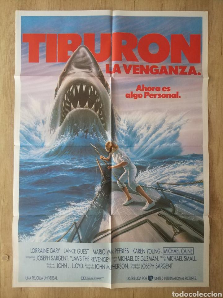 CARTEL ESTRENO CINES EN ESPAÑA PELÍCULA TIBURÓN LA VENGANZA (JAWS: THE REVENGE) AÑO: 1987 (Cine - Posters y Carteles - Acción)