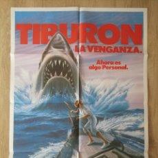 Cine: CARTEL ESTRENO CINES EN ESPAÑA PELÍCULA TIBURÓN LA VENGANZA (JAWS: THE REVENGE) AÑO: 1987. Lote 208403963