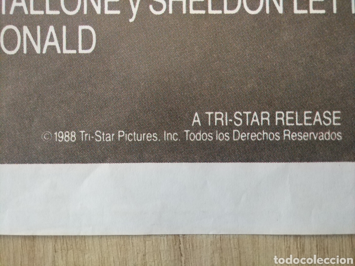 Cine: Cartel Estreno cines en España película RAMBO 3 (Sylvester Stallone) Año: 1988 - Foto 3 - 208405913
