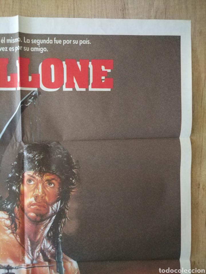 Cine: Cartel Estreno cines en España película RAMBO 3 (Sylvester Stallone) Año: 1988 - Foto 5 - 208405913