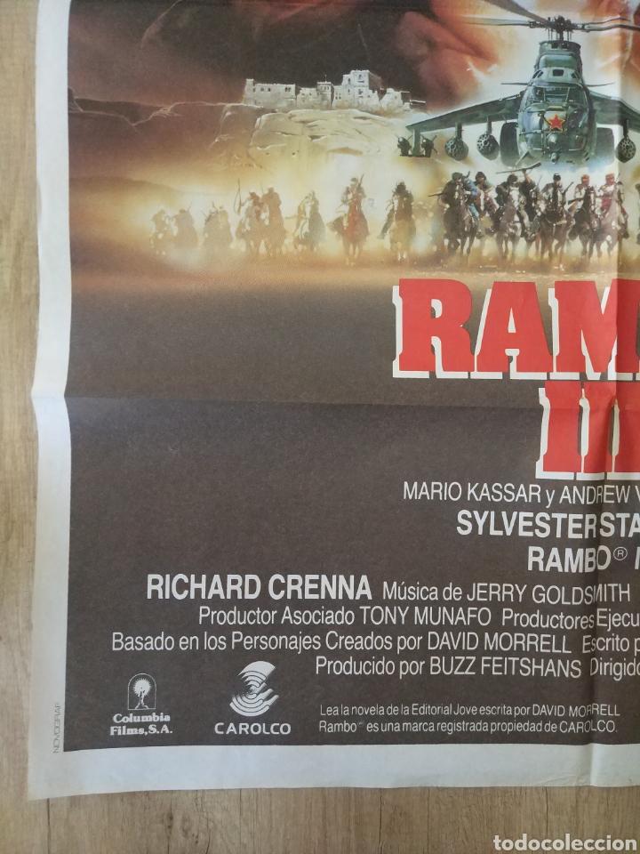 Cine: Cartel Estreno cines en España película RAMBO 3 (Sylvester Stallone) Año: 1988 - Foto 6 - 208405913