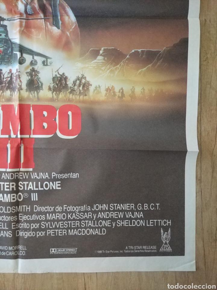 Cine: Cartel Estreno cines en España película RAMBO 3 (Sylvester Stallone) Año: 1988 - Foto 7 - 208405913
