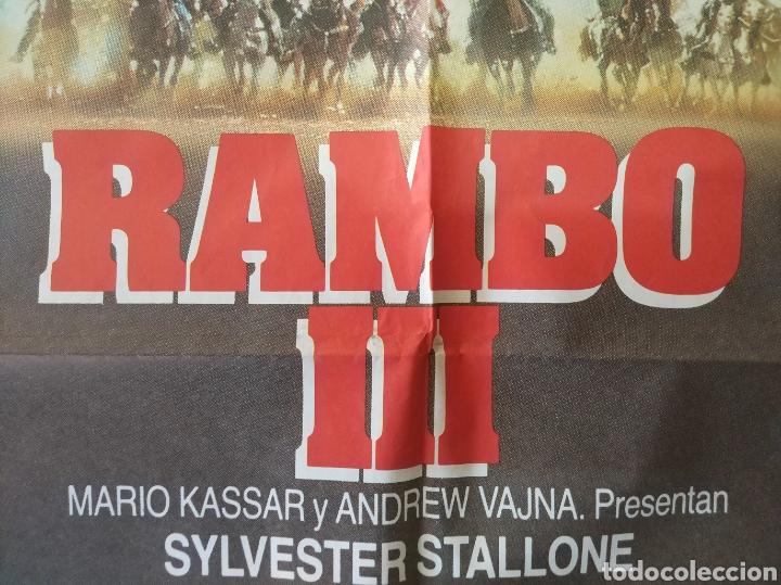 Cine: Cartel Estreno cines en España película RAMBO 3 (Sylvester Stallone) Año: 1988 - Foto 8 - 208405913