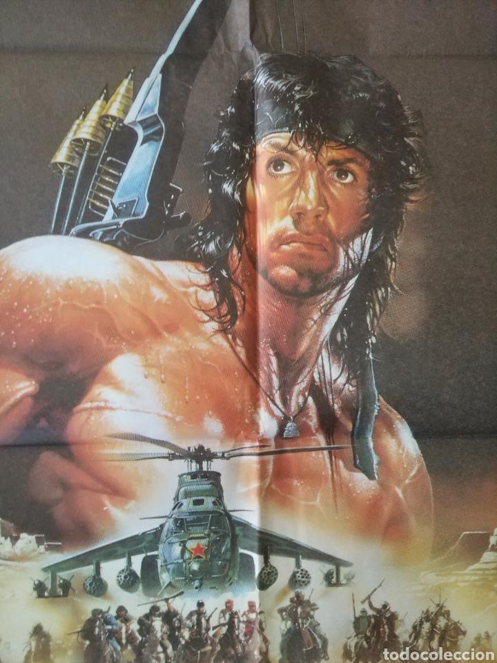 Cine: Cartel Estreno cines en España película RAMBO 3 (Sylvester Stallone) Año: 1988 - Foto 9 - 208405913