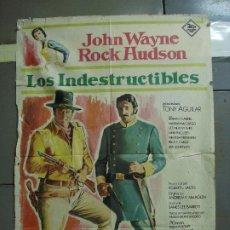 Cinema: CDO 3181 LOS INDESTRUCTIBLES JOHN WAYNE ROCK HUDSON POSTER ORIGINAL 70X100 ESTRENO. Lote 208405988