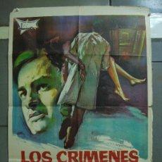 Cinema: CDO 3182 LOS CRIMENES DE PETIOT PAUL NASCHY POSTER ORIGINAL ESTRENO 70X100. Lote 208407520