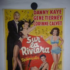 Cinema: SUR LA RIVIERA (EN LA COSTA AZUL) - 1951 - 50 X 36. Lote 208447291