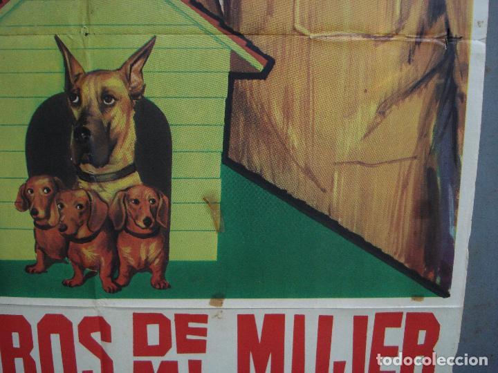 Cine: CDO 3191 LOS PERROS DE MI MUJER WALT DISNEY POSTER ORIGINAL 70X100 ESTRENO - Foto 8 - 208473646