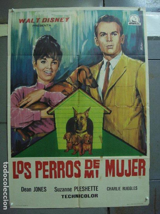 CDO 3191 LOS PERROS DE MI MUJER WALT DISNEY POSTER ORIGINAL 70X100 ESTRENO (Cine - Posters y Carteles - Infantil)