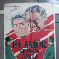 Cine: CDO 3198 EL AMOR SE PAGA CON LA MUERTE MARISA MELL CARL WERY POSTER ORIGINAL ESPAÑOL 70X100 ESTRENO. Lote 208482936