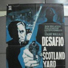 Cine: CDO 3207 DESAFIO A SCOTLAND YARD BERNARD LEE EDGAR WALLACE POSTER ORIGINAL 70X100 ESTRENO. Lote 208485797