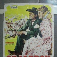 Cinema: CDO 3210 CIMARRON GLENN FORD ANTHONY MANN MARIA SCHELL POSTER ORIGINAL 70X100 ESTRENO. Lote 208486741