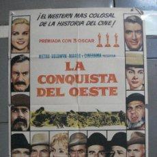 Cine: CDO 3213 LA CONQUISTA DEL OESTE JOHN WAYNE POSTER ORIGINAL 70X100 ESTRENO. Lote 208487206