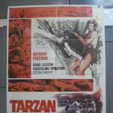 Cine: CDO 3225 TARZAN Y EL TESORO ESCONDIDO ANTHONY FREEMAN POSTER ORIGINAL 70X100 ESTRENO. Lote 208491197