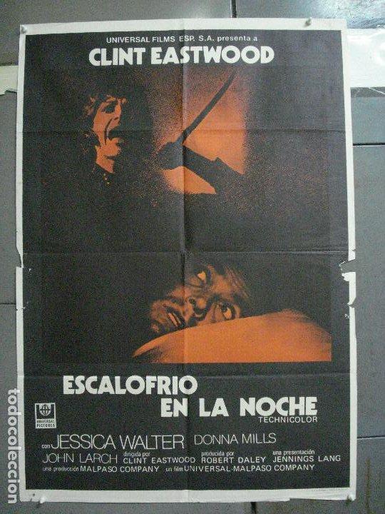 CDO 3234 ESCALOFRIO EN LA NOCHE CLINT EASTWOOD POSTER ORIGINAL 70X100 ESTRENO (Cine - Posters y Carteles - Suspense)