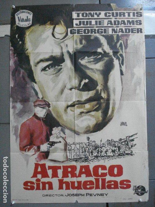 CDO 3238 ATRACO SIN HUELLAS TONY CURTIS GEORGE NADER JULIE ADAMS JANO POSTER ORIGINAL 70X100 ESTRENO (Cine - Posters y Carteles - Suspense)