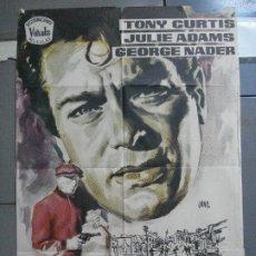 Cine: CDO 3238 ATRACO SIN HUELLAS TONY CURTIS GEORGE NADER JULIE ADAMS JANO POSTER ORIGINAL 70X100 ESTRENO. Lote 208560978