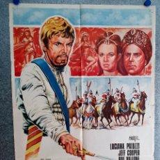 Cinema: LA ESCLAVA DEL PARAÍSO. LUCIANA PALUZZI, JEFF COOPER, RAF VALLONE. POSTER ORIGINAL. Lote 208565158