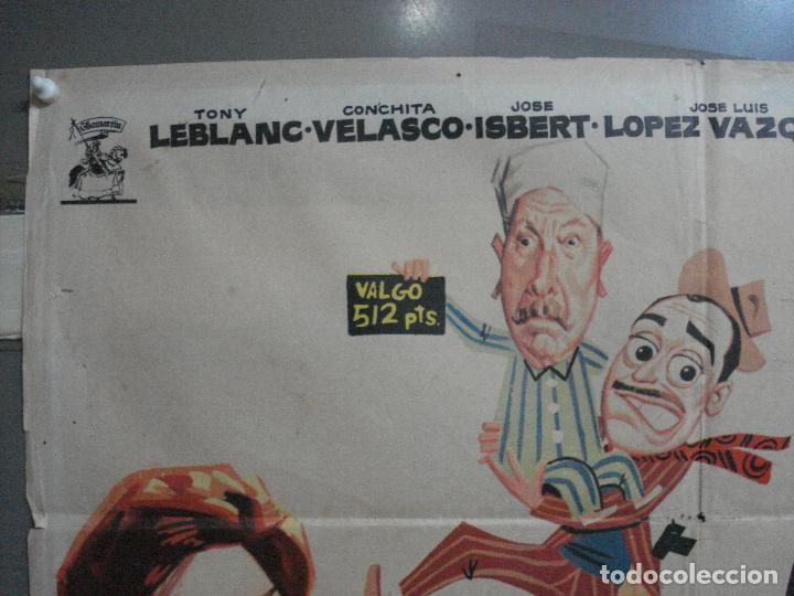 Cine: CDO 3240 SABIAN DEMASIADO TONY LEBLANC CONCHA VELASCO JOSE ISBERT OZORES POSTER ORIG 70X100 ESTRENO - Foto 2 - 208570101