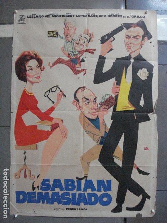 CDO 3240 SABIAN DEMASIADO TONY LEBLANC CONCHA VELASCO JOSE ISBERT OZORES POSTER ORIG 70X100 ESTRENO (Cine - Posters y Carteles - Clasico Español)