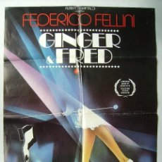 Cine: GINGER Y FRED, DE FEDERICO FELLINI . POSTER 68 X 96,5 CMS.. Lote 208597076