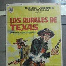 Cinema: CDO 3252 LOS RURALES DE TEXAS GEORGE MARTIN ALAN SCOTT SPAGHETTI POSTER ORIGINAL ESTRENO 70X100. Lote 208691123